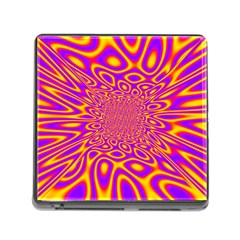 Psycedelic Warp Memory Card Reader With Storage (square)