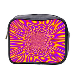 Psycedelic Warp Mini Travel Toiletry Bag (two Sides)