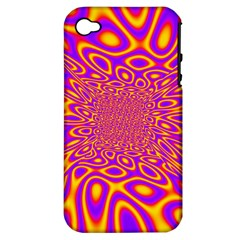 Psycedelic Warp Apple Iphone 4/4s Hardshell Case (pc+silicone)