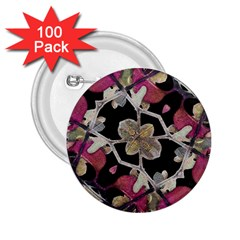 Floral Arabesque Decorative Artwork 2 25  Button (100 Pack)