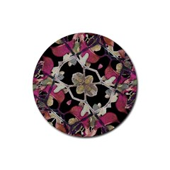 Floral Arabesque Decorative Artwork Drink Coasters 4 Pack (Round)