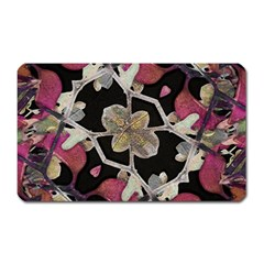 Floral Arabesque Decorative Artwork Magnet (Rectangular)