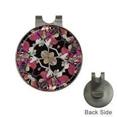 Floral Arabesque Decorative Artwork Hat Clip with Golf Ball Marker