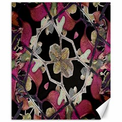 Floral Arabesque Decorative Artwork Canvas 8  x 10  (Unframed)