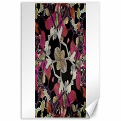 Floral Arabesque Decorative Artwork Canvas 24  x 36  (Unframed)