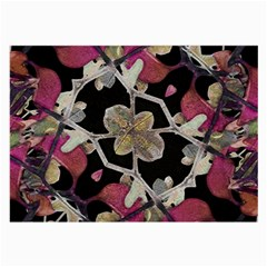 Floral Arabesque Decorative Artwork Glasses Cloth (large, Two Sided)