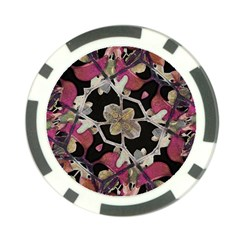 Floral Arabesque Decorative Artwork Poker Chip