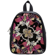 Floral Arabesque Decorative Artwork School Bag (small)