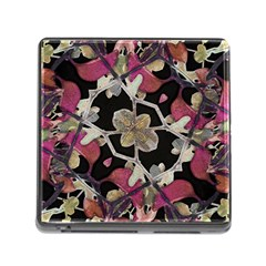 Floral Arabesque Decorative Artwork Memory Card Reader With Storage (square)