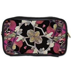 Floral Arabesque Decorative Artwork Travel Toiletry Bag (two Sides)