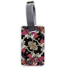 Floral Arabesque Decorative Artwork Luggage Tag (two Sides)