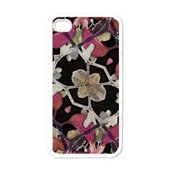 Floral Arabesque Decorative Artwork Apple Iphone 4 Case (white)