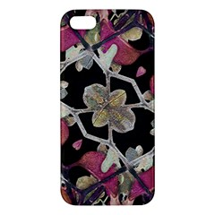 Floral Arabesque Decorative Artwork iPhone 5S Premium Hardshell Case