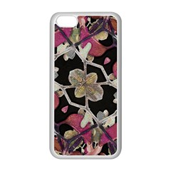 Floral Arabesque Decorative Artwork Apple iPhone 5C Seamless Case (White)
