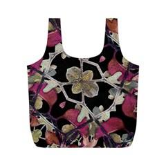 Floral Arabesque Decorative Artwork Reusable Bag (M)