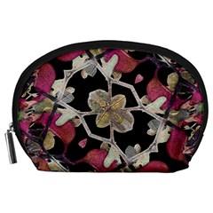 Floral Arabesque Decorative Artwork Accessory Pouch (Large)