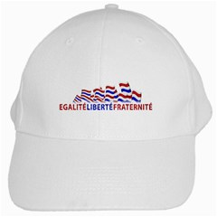 Bastille Day White Baseball Cap