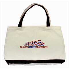 Bastille Day Twin-sided Black Tote Bag