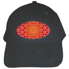 Radial Flower Black Baseball Cap