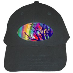 Rainbow Moon Black Baseball Cap