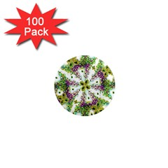 Neo Noveau Style Background Pattern 1  Mini Button Magnet (100 pack)
