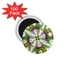 Neo Noveau Style Background Pattern 1.75  Button Magnet (100 pack)