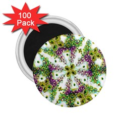 Neo Noveau Style Background Pattern 2 25  Button Magnet (100 Pack)