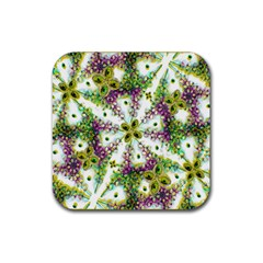 Neo Noveau Style Background Pattern Drink Coaster (square)