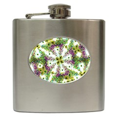 Neo Noveau Style Background Pattern Hip Flask