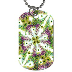 Neo Noveau Style Background Pattern Dog Tag (Two-sided)