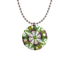 Neo Noveau Style Background Pattern Button Necklace
