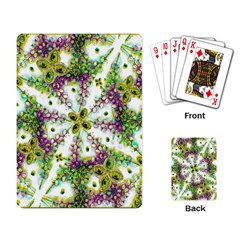 Neo Noveau Style Background Pattern Playing Cards Single Design