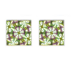 Neo Noveau Style Background Pattern Cufflinks (Square)