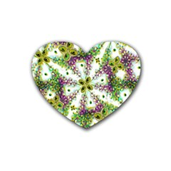 Neo Noveau Style Background Pattern Drink Coasters 4 Pack (heart)