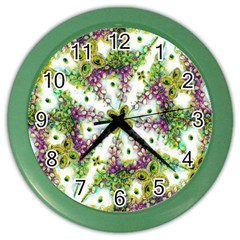 Neo Noveau Style Background Pattern Wall Clock (color)