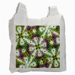 Neo Noveau Style Background Pattern White Reusable Bag (Two Sides)