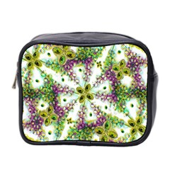 Neo Noveau Style Background Pattern Mini Travel Toiletry Bag (two Sides)