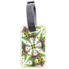 Neo Noveau Style Background Pattern Luggage Tag (Two Sides)
