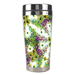 Neo Noveau Style Background Pattern Stainless Steel Travel Tumbler