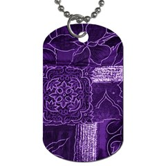 Pretty Purple Patchwork Dog Tag (one Sided)