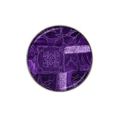 Pretty Purple Patchwork Golf Ball Marker 4 Pack (for Hat Clip)