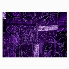 Pretty Purple Patchwork Glasses Cloth (Large, Two Sided)