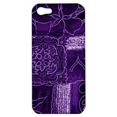 Pretty Purple Patchwork Apple Iphone 5 Hardshell Case