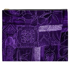 Pretty Purple Patchwork Cosmetic Bag (xxxl)