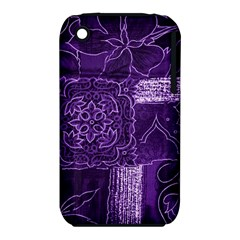 Pretty Purple Patchwork Apple iPhone 3G/3GS Hardshell Case (PC+Silicone)