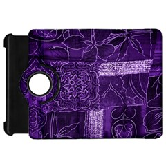 Pretty Purple Patchwork Kindle Fire Hd 7  (1st Gen) Flip 360 Case