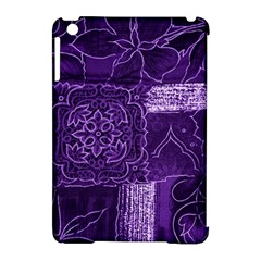 Pretty Purple Patchwork Apple Ipad Mini Hardshell Case (compatible With Smart Cover)