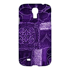 Pretty Purple Patchwork Samsung Galaxy S4 I9500/i9505 Hardshell Case