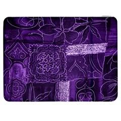 Pretty Purple Patchwork Samsung Galaxy Tab 7  P1000 Flip Case