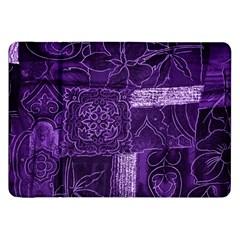 Pretty Purple Patchwork Samsung Galaxy Tab 8.9  P7300 Flip Case